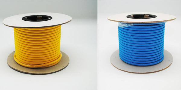 Rollo de 25 metros cable textil de color