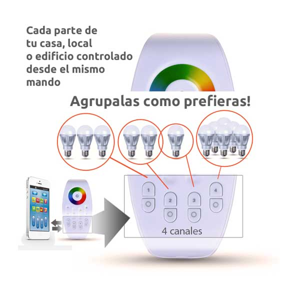 bombillas led con control wifi a distancia