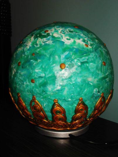 lampara bola artesana mundo acuatico