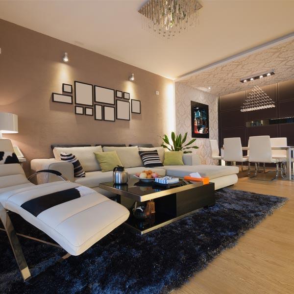 iluminar salones de estilo moderno