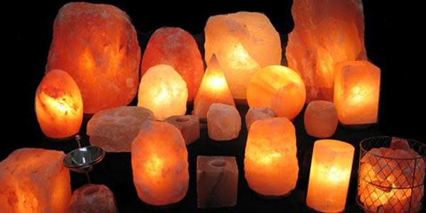 Feng Shui en iluminación. Lámparas de sal del Himalaya.