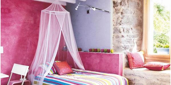 Dormitorio rústico iluminación moderna