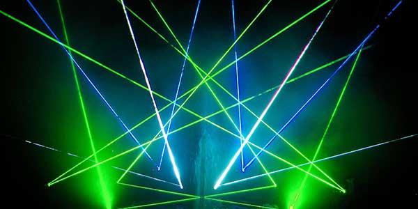 Laser en el festival de la luz