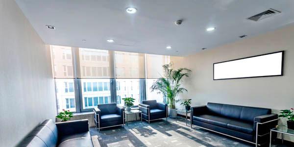iluminacion sala espera oficina