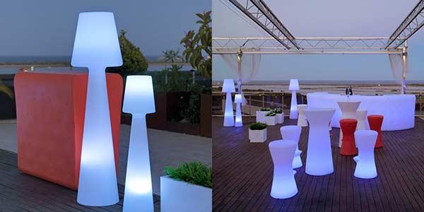 mobiliario de exterior de luz