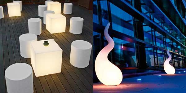 muebles iluminados para exterior