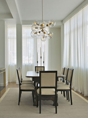 Lámparas modernas para todo. Combinando estilos de iluminación.