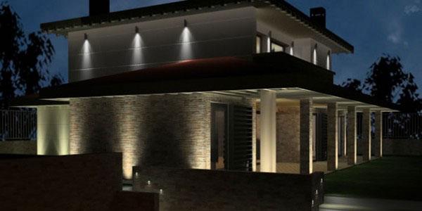 iluminación exterior de chalets