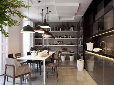 cocina-con-iluminación-industrial
