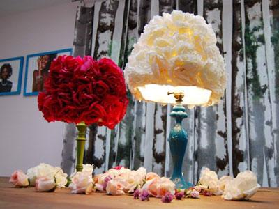 lampara-flores-diy