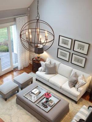 Lámparas clásicas en ambientes modernos