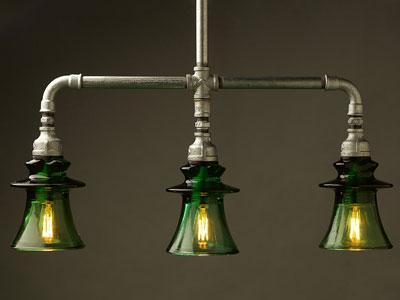 Lámparas retro-vintage con tuberías