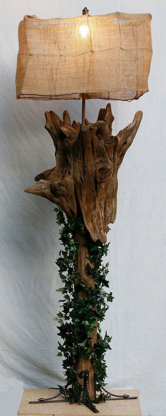 lampara-tronco-hojas-arbol