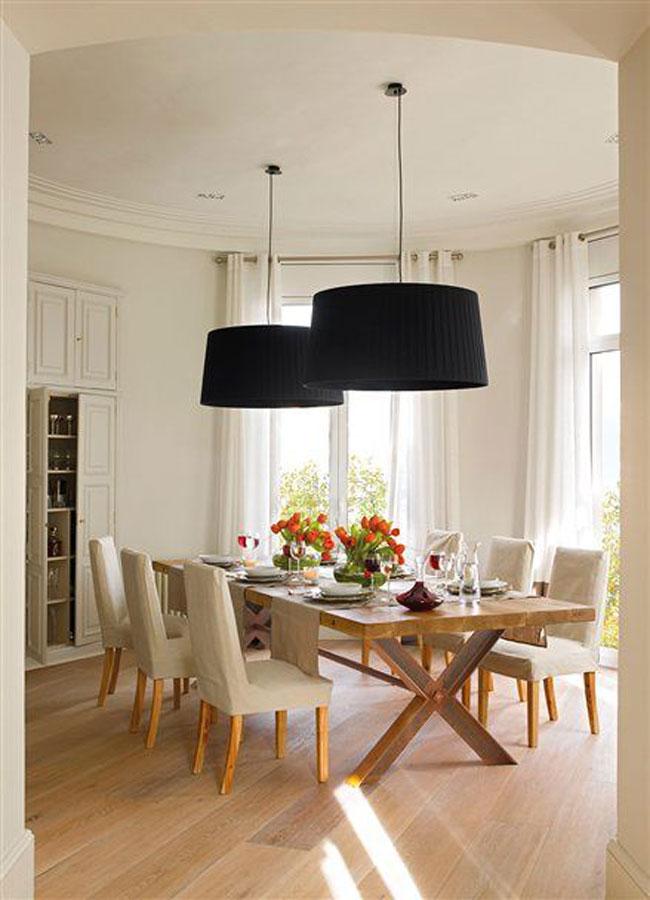 Lámparas de techo para comedor, luz que se siente.