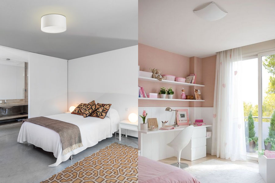 Consejos para elegir una l mpara de techo for Modelo de dormitorio 2016