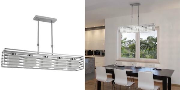 lampara-techo-salon iluminación