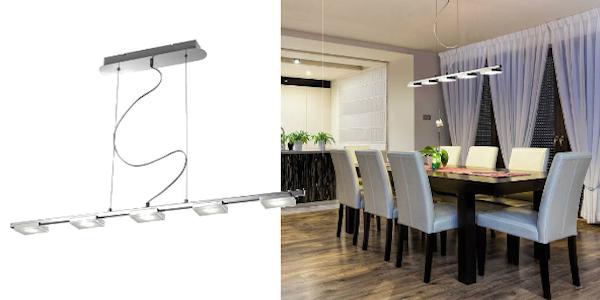lampara-techo-salon-dos iluminación