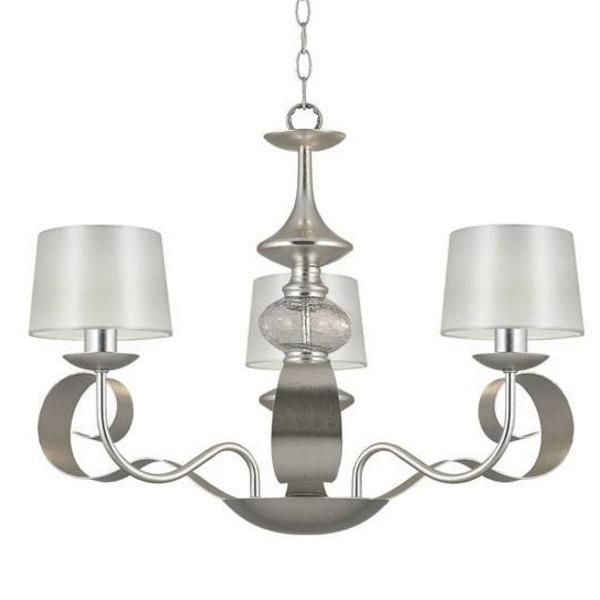 Lámpara de techo Carmen plata decó (3 luces)