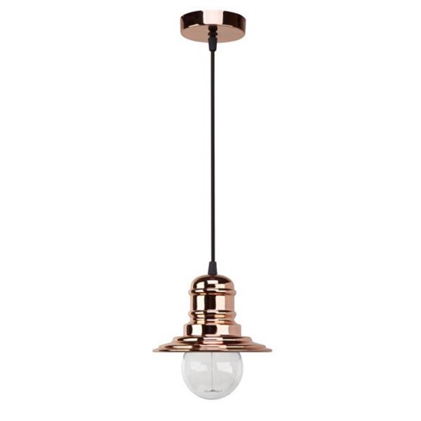 Lámpara de techo Proa (cobre). Precio 69,95 euros.