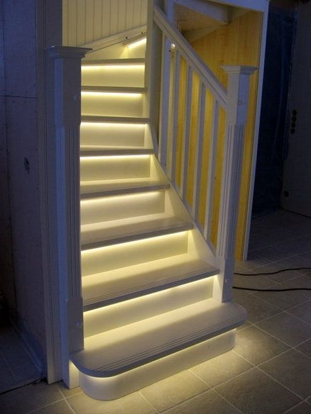 tiras led escaleras