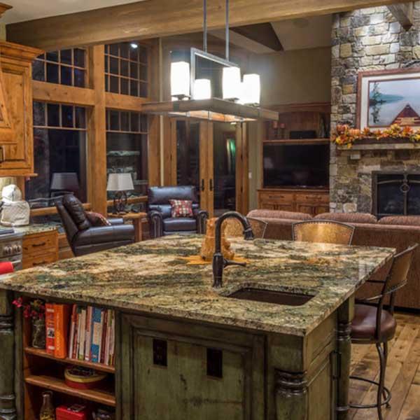 Cocinas iluminadas con lámparas de techo de estilo rústico - Blog de ...