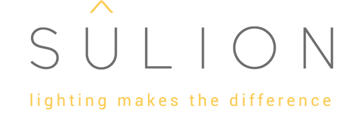 Logo de la marca Sulion de iluminación y aparatos de iluminación.