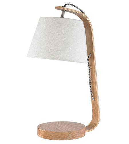 Lámparas de mesa en maderas