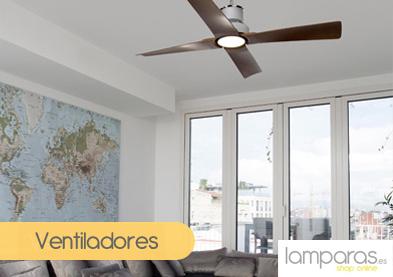 Ir a ver ventiladores de techo en Lamparas.es