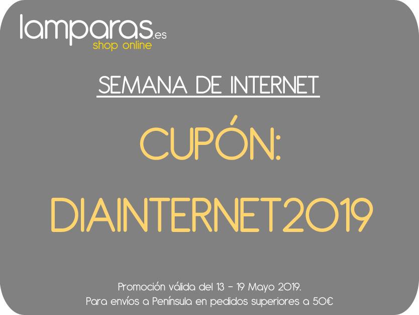 Cupon descuento del la semana de Internet en Lamparas.es