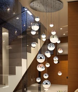 Lámpara Sphere de 27 Luces Dimable Schuller