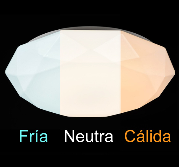 Diferentes temperaturas de color en un plafon led