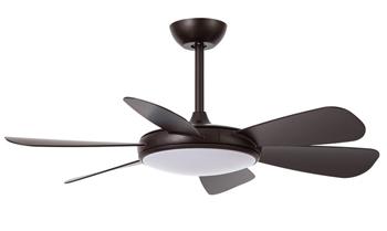 Ventilador de techo silencioso no hace ruido Ventilador Clip en color marron