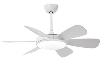 Ventilador silencioso de diseño moderno color blanco
