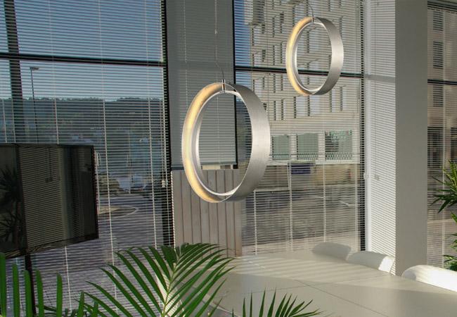 Lámpara de techo LED orbitron en forma de aro LED