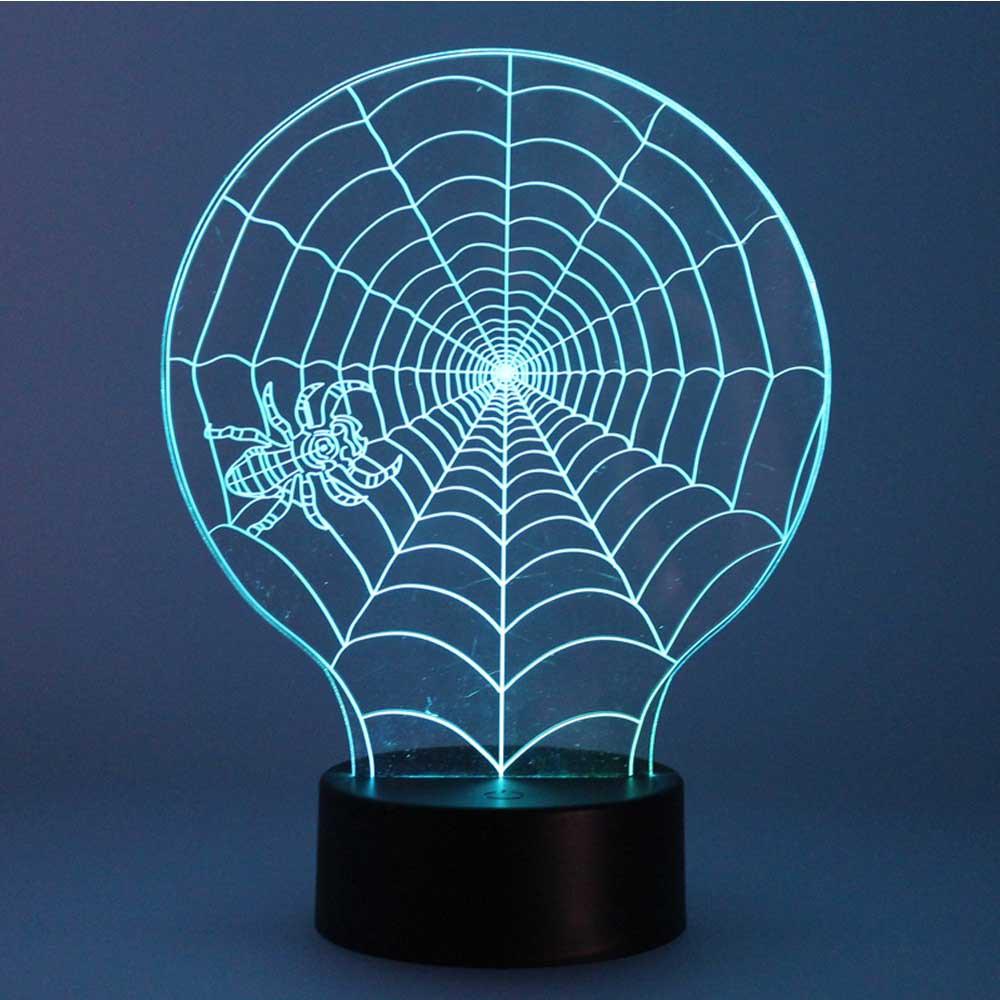 Decoración para Halloween. Lámparas para Halloween con forma de Telaraña