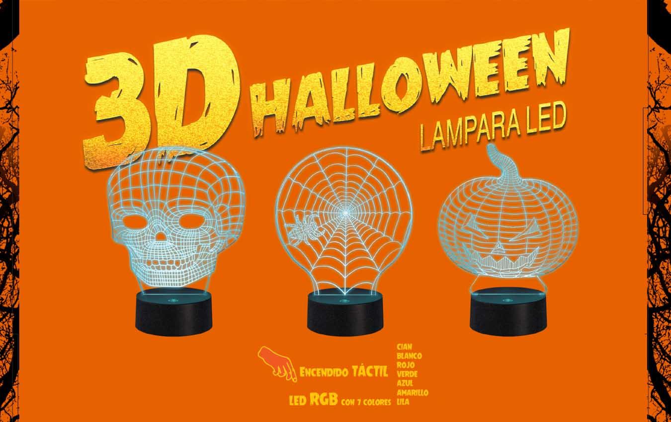 Decoracion Halloween con lamparas en 3D