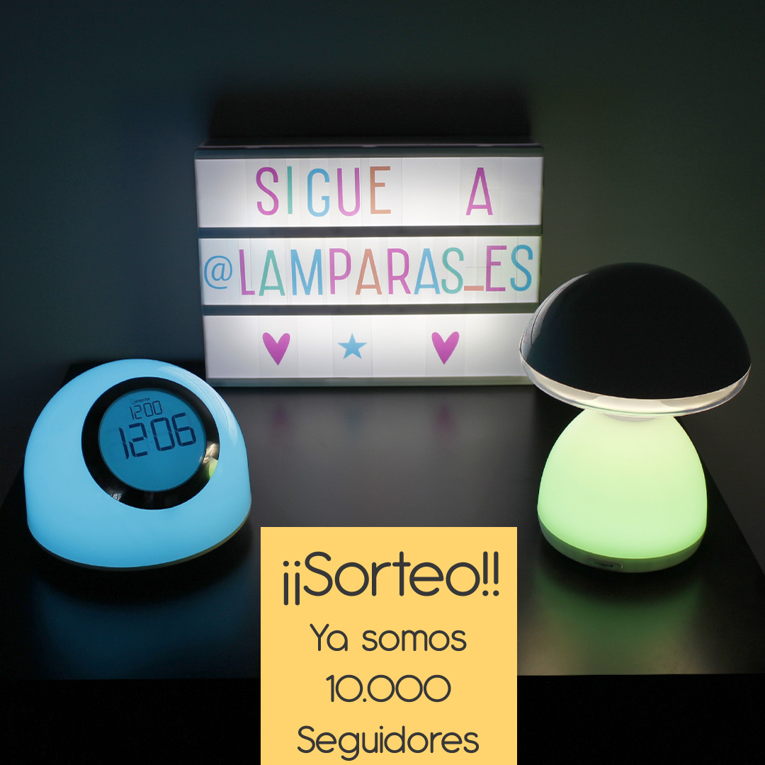 Sorteo de lamparas LED RGB Instagram