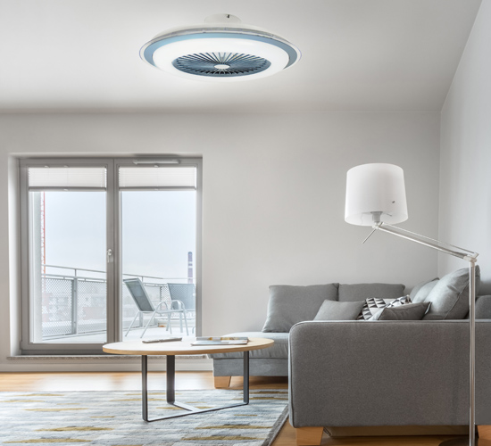 Plafón con ventilador para techo LED Liria