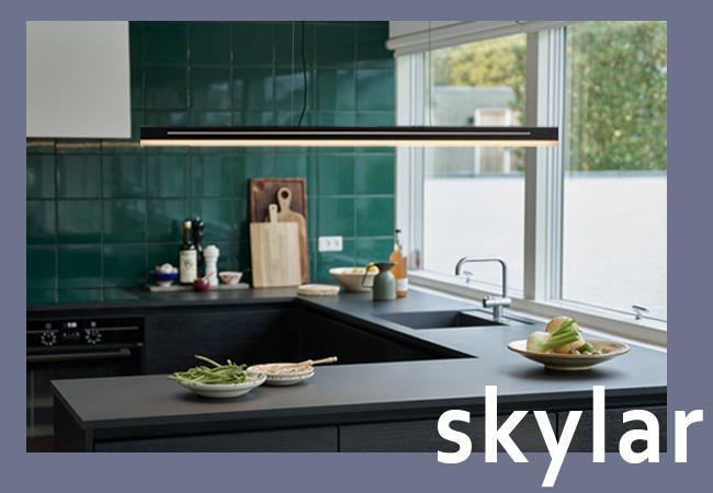 Lámpara de techo lineal de estilo nórdico Skylar
