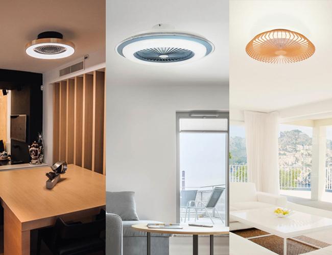 Ventiladores de techo compactos Plafones para techo con LED integrado