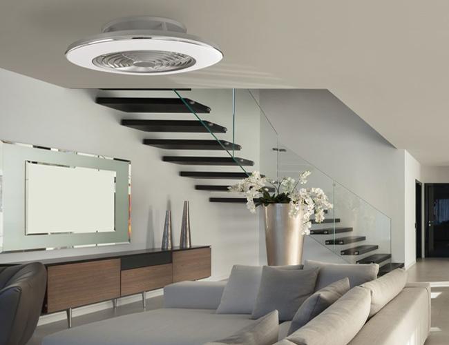 Plafon ventilador Alisio de color blanco