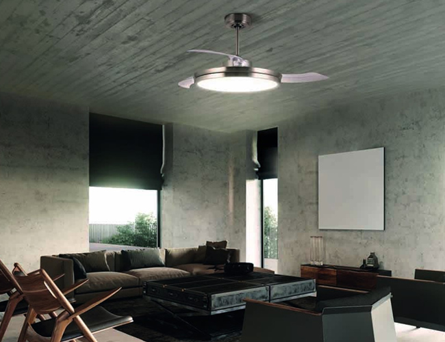 Ventilador de aspas plegables ARECA LED
